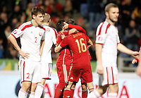 Spain's players celebrate goal during 15th UEFA European Championship Qualifying Round match. November 15,2014.(ALTERPHOTOS/Acero) /NortePhoto nortephoto@gmail.com