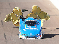 Feb 25, 2017; Chandler, AZ, USA; NHRA funny car driver John Force during qualifying for the Arizona Nationals at Wild Horse Pass Motorsports Park. Mandatory Credit: Mark J. Rebilas-USA TODAY Sports