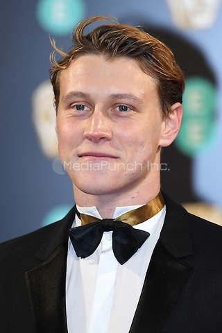 LONDON, ENGLAND - FEBRUARY 12: George MacKay attends the 70th EE British Academy Film Awards (BAFTA) at Royal Albert Hall on February 12, 2017 in London, England.<br /> CAP/BEL<br /> &copy;BEL/Capital Pictures /MediaPunch ***NORTH AND SOUTH AMERICAS ONLY***
