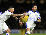 Leicester City's Riyad Mahrez celebrates scoring his sides opening goal<br /> <br /> - English Premier League - Watford vs Leicester City  - Vicarage Road - London - England - 5th March 2016 - Pic David Klein/Sportimage