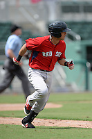 Boston Red Sox infielder Victor Acosta (13) during an Instructional League game against the Minnesota Twins on September 26, 2014 at jetBlue Park at Fenway South in Fort Myers, Florida.  (Mike Janes/Four Seam Images)