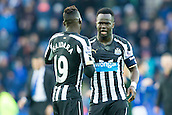 03.01.2015.  Leicester, England. FA Cup 3rd Round. Leicester versus Newcastle United. Cheick Tiote and Massadio Haidara (Newcastle United) wish each other luck before kick-off.