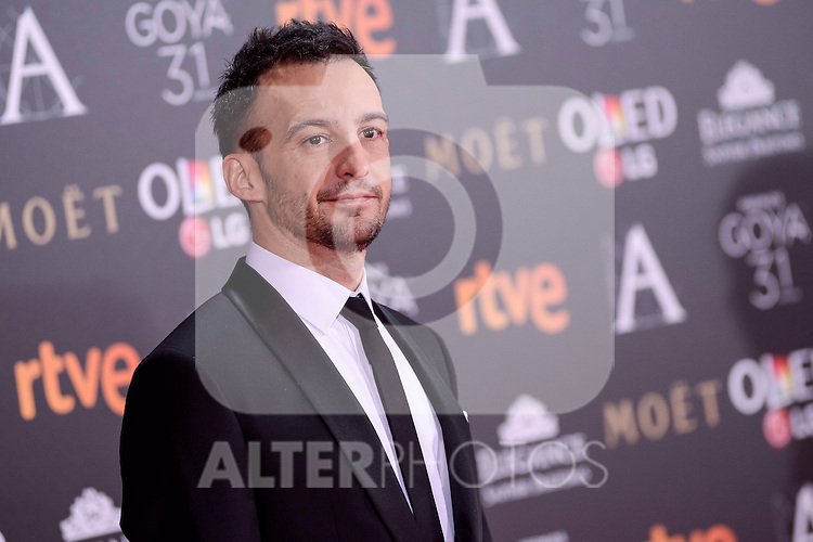 Alejandro Amenabar attends to the Red Carpet of the Goya Awards 2017 at Madrid Marriott Auditorium Hotel in Madrid, Spain. February 04, 2017. (ALTERPHOTOS/BorjaB.Hojas)