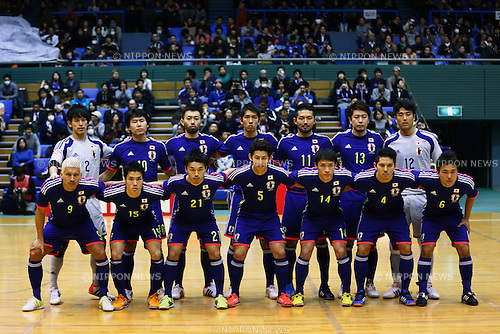 Japan National team group line-up, <br /> DECEMBER 18, 2014 - Futsal : International Friendly Match between Japan 1-1 Croatia at Komazawa gymnasium, Tokyo, Japan. (Photo by AFLO SPORT) [1180]