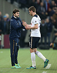 Tottenham's Mauricio Pochettino shakes hands with Jan Vertonghen during the Premier League match at the London Stadium, London. Picture date: May 5th, 2017. Pic credit should read: David Klein/Sportimage