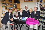 from tees to Drivers pick up all your golfing accessories in the Pro Golf Shop at Castleisland Golf course l-r: Con Murphy Captain, Dr Brendan Mullins Junior Officer, Breda Geaney Lady President, Francis Hartnett Club Manager, Maria O'Connor Lady Captain and Patsy O'Sullivan President