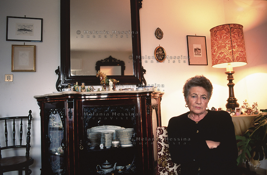 Rita Costa, widow of the judge Gaetano Costa, killed by mafia in 1980, after her husband's murder she became very involved in fightiig mafia.<br />