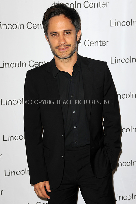 www.acepixs.com<br /> July 25, 2017  New York City<br /> <br /> Gael Garcia Bernal attending Lincoln Center&rsquo;s Mostly Mozart Festival opening night gala honoring 'Mozart in The Jungle' at David Geffen Hall on July 25, 2017 in New York City.<br /> <br /> Credit: Kristin Callahan/ACE Pictures<br /> <br /> <br /> Tel: 646 769 0430<br /> Email: info@acepixs.com