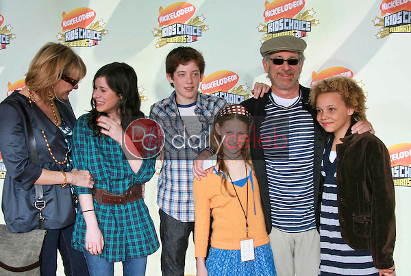 Kate Capshaw with Steven Spielberg and family<br />