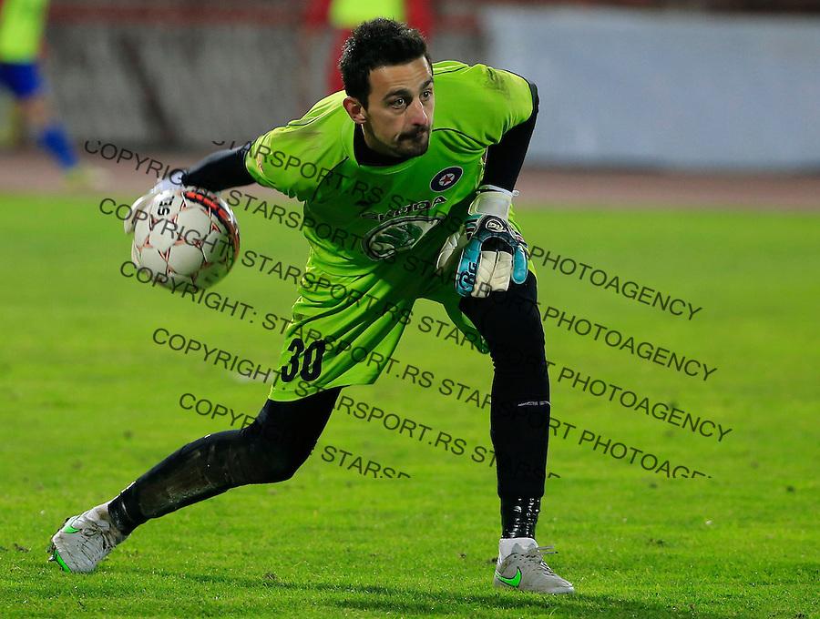 Fudbal Kup Srbije season 2015-2016<br /> Crvena Zvezda v Borac Cacak<br /> Goalkeeper Vladimir Bajic<br /> Beograd, 12.02.2015.<br /> foto: Srdjan Stevanovic/Starsportphoto&copy;