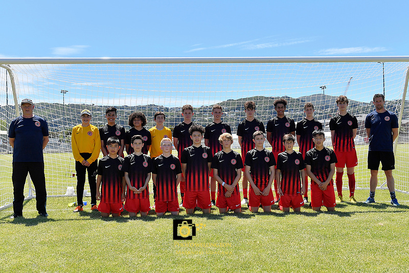 U14 Boys Mainland Team, National Age Group Tournament at Petone Memorial Park, Lower Hutt, New Zealand on Wednesday 12 December 2018. <br />