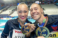 JONES Christina, MAY Bill USA United States of America gold medal<br /> Kazan Arena Synchro Sincro Mixed Duet Technical Final<br /> Day03 26/07/2015<br /> XVI FINA World Championships Aquatics Swimming<br /> Kazan Tatarstan RUS July 24 - Aug. 9 2015 <br /> Photo G.Scala/Deepbluemedia/Insidefoto