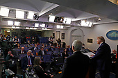 United States President Donald J. Trump speaks during a news conference at the White House in Washington D.C., U.S. on Monday, April 20, 2020. <br /> Credit: Tasos Katopodis / Pool via CNP