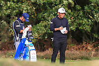 Hideto Tanihara (JPN) on the 2nd during Round 2 of the Sky Sports British Masters at Walton Heath Golf Club in Tadworth, Surrey, England on Friday 12th Oct 2018.<br /> Picture:  Thos Caffrey | Golffile<br /> <br /> All photo usage must carry mandatory copyright credit (&copy; Golffile | Thos Caffrey)