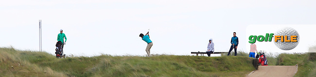 Alejandro Larrazabal (ESP) on the 4th tee during Round 1 of the The Amateur Championship 2019 at The Island Golf Club, Co. Dublin on Monday 17th June 2019.<br />