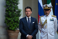 (From R to L) Admiral Sq. Carlo Massagli (Military Advisor to the Prime Minister and Head of the Secretariat Office) and Giuseppe Conte (Italian Prime Minister).<br />