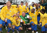 - Clapton Rangers vs Eastwood Sports - London FA Sunday Junior Cup Final at Cockfosters FC  20/04/08 - MANDATORY CREDIT: Rob Newell/TGSPHOTO - IMAGES USED WILL BE INVOICED AT STANDARD RATES. Gavin Ellis/TGSPHOTO, 27 Plaiters Way, Braintree, Essex CM7 3LR - Tel: 0845 0946026 - BACS details for payment: Gavin Ellis - A/C 31840312 Sort Code 40-17-08. NO UNPAID USE..
