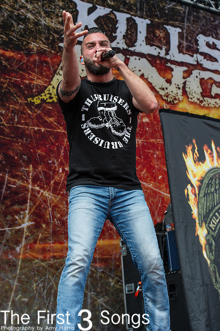 Jesse Leach of Killswitch Engage performs during the 2014 Rock On The Range festival at Columbus Crew Stadium in Columbus, Ohio.