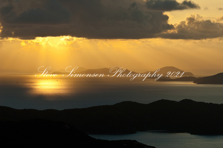 Bordeaux Mountain Sunrise.St John.U.S. Virgin Islands