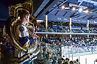 March 10, 2017; Luke Donahue, tuba player in the Notre Dame Hockey Band. (Photo by Matt Cashore/University of Notre Dame)