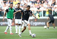 Calcio, Serie A: Juventus - Lazio, Torino, Allianz Stadium, 25 agosto, 2018.<br /> Juventus' Cristiano Ronaldo warms up prior to the Italian Serie A football match between Juventus and Lazio at Torino's Allianz stadium, August 25, 2018.<br /> UPDATE IMAGES PRESS/Isabella Bonotto