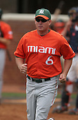 Gino DiMare of the Miami Hurricanes vs. the Virginia Cavaliers: March 24th, 2007 at Davenport Field in Charlottesville, VA.  Photo copyright Mike Janes Photography 2007.