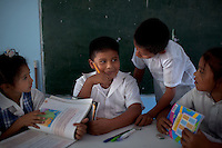 Jan. 26, 2012 - Yopal, Colombia. Students in a primary school. © Nicolas Axerlod / Ruom