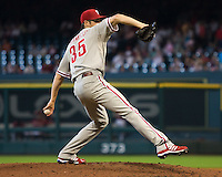 Hamels, Cole 6310.jpg Philadelphia Phillies at Houston Astros. Major League Baseball. September 6th, 2009 at Minute Maid Park in Houston, Texas. Photo by Andrew Woolley.