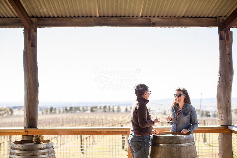 Wine tasting at De Salis Wines, Orange, NSW, Australia.<br /> Picture Credit - James Horan