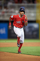Boston Red Sox left fielder Chris Young (30) running the bases during a Spring Training game against the Minnesota Twins on March 16, 2016 at Hammond Stadium in Fort Myers, Florida.  Minnesota defeated Boston 9-4.  (Mike Janes/Four Seam Images)