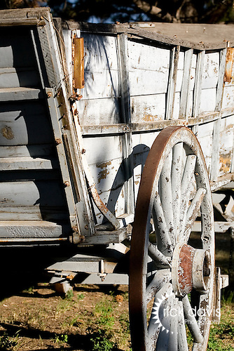 Rustic old western wagon
