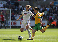 Pictured: Andrea Orlandi of Swansea City in action <br />