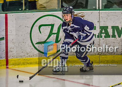 13 February 2015: University of New Hampshire Wildcat Forward Jonna Curtis, a Sophomore from Elk River, MN, in second period action against the University of Vermont Catamounts at Gutterson Fieldhouse in Burlington, Vermont. The Lady Wildcats defeated Vermont 4-2 in the first game of their weekend Hockey East series. Mandatory Credit: Ed Wolfstein Photo *** RAW (NEF) Image File Available ***