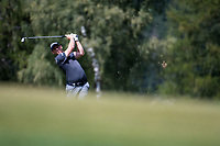 Lorenzo Gagli (ITA) in action on the 12th hole during final round at the Omega European Masters, Golf Club Crans-sur-Sierre, Crans-Montana, Valais, Switzerland. 01/09/19.<br /> Picture Stefano DiMaria / Golffile.ie<br /> <br /> All photo usage must carry mandatory copyright credit (© Golffile | Stefano DiMaria)