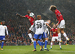 Marouane Fellaini of Manchester United (R) scores during the Champions League Group A match at the Old Trafford Stadium, Manchester. Picture date: September 12th 2017. Picture credit should read: Andrew Yates/Sportimage