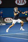 Novak Djokovic (SRB) defeats Fernando Verdasco (ESP) 7-6, 6-3, 6-4 at the Australian Open being played at Melbourne Park in Melbourne, Australia on January 24, 2015