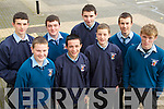 Students from St Michaels college Listowel Colin Brown, Darragh Kenneally, Donnacha Brosnan, David Behan, Danny Brown, Bill Keane, Darragh O'Regan and Niall Kirby attending the Mental Wellness Exhibition in the Brandon Conference Centre on Monday last..