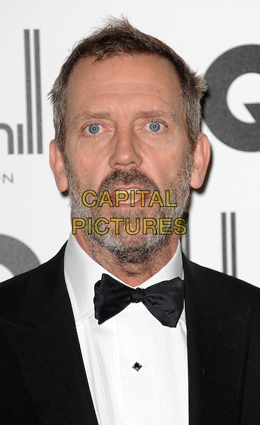 Hugh Laurie.GQ Men Of The Year Awards 2011 arrivals, Royal Opera House, London, England..September 6th, 2011.headshot portrait black white bow tie mouth open beard facial hair.CAP/WIZ.© Wizard/Capital Pictures.