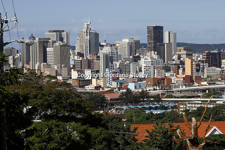 DURBAN - 12 May 2013 - The skyline of the Durban central business district as seen from the nearby suburb of Musgrave. Picture: Giordano Stolley