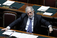 Il Sotto Segretario per i Rapporti con il Parlamento Giampaolo D'Andrea.Roma 25/01/2012 Voto alla Camera dei Deputati per la mozione unitaria sulla politica europea dell'Italia.Foto Insidefoto Serena Cremaschi