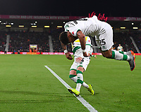 Onel Hernandez of Norwich City celebrates his goal with a somersault during AFC Bournemouth vs Norwich City, Caraboa Cup Football at the Vitality Stadium on 30th October 2018