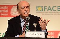 ATENÇÃO EDITOR: FOTO EMBARGADA PARA VEÍCULOS INTERNACIONAIS. SAO PAULO, 24 DE SETEMBRO DE 2012 - ELEICOES 2012 SERRA - Candidato Jose Serra (PSDB) durante evento da Associacao Comercial de Sao Paulo no Hotel Renaissence, regiao central da capital, na tarde desta segunda feira. FOTO: ALEXANDRE MOREIRA - BRAZIL PHOTO PRESS