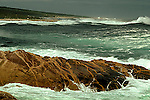 Crashing waves at Neil's Harbour, Cape Breton Island, Nova Scotia, Canada