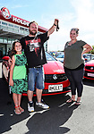 "Daniel McNicholl holds his mullet with family Mischa Harris (L) and Whitney Harris  in front of their new Holden Barina. Holden New Zealand, ""Mullet Amnesty Day"", trade your mullet for a Holden Astra, West City Holden, Auckland, New Zealand, Saturday 1st April 2017. Photo: Simon Watts/www.bwmedia.co.nz"
