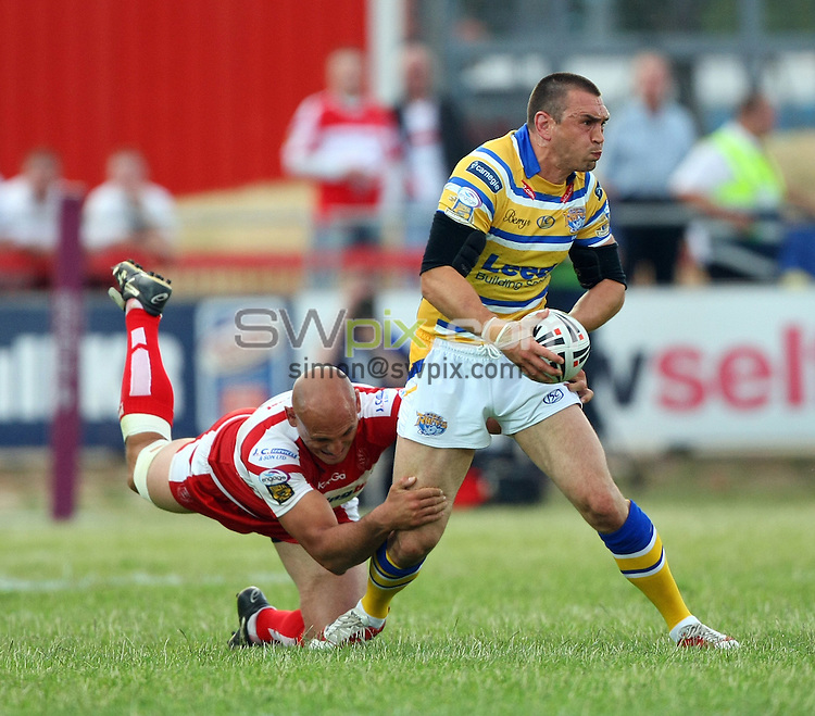 PICTURE BY VAUGHN RIDLEY/SWPIX.COM - Rugby League - Super League - Hull KR v Leeds - Craven Park, Hull, England - 09/07/10...Copyright - Simon Wilkinson - 07811267706...Leeds Kevin Sinfield.
