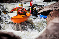 Eric Jackson kayaks the South Saint Vrain, Class V, Lyons, CO