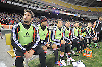 D.C. United bench. Sporting Kansas City defeated D.C. United  1-0 at RFK Stadium, Saturday March 10, 2012.