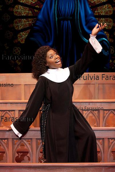 Milano, 12/10/2011, teatro nazionale, Loretta Grace, protagonista del musical Sister Act