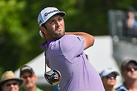 Jon Rahm (ESP) watches his tee shot on 3 during round 2 of the 2019 Charles Schwab Challenge, Colonial Country Club, Ft. Worth, Texas,  USA. 5/24/2019.<br /> Picture: Golffile   Ken Murray<br /> <br /> All photo usage must carry mandatory copyright credit (© Golffile   Ken Murray)