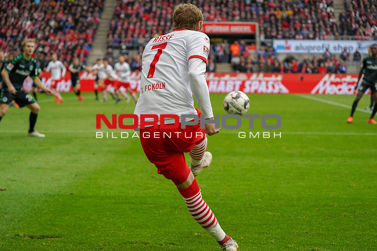 01.12.2018, RheinEnergieStadion, Koeln, GER, 2. FBL, 1.FC Koeln vs. SpVgg Greuther Fürth,<br />  <br /> DFL regulations prohibit any use of photographs as image sequences and/or quasi-video<br /> <br /> im Bild / picture shows: <br /> Freistoss Marcel Risse (FC Koeln #7),    <br /> <br /> Foto © nordphoto / Meuter